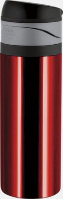 Rubinröd 0,4 liters ståltermosmugg med reklamtryck