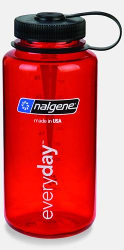 Everyday Red/Svart (1 l) Färgglada vattenflaskor med eget tryck