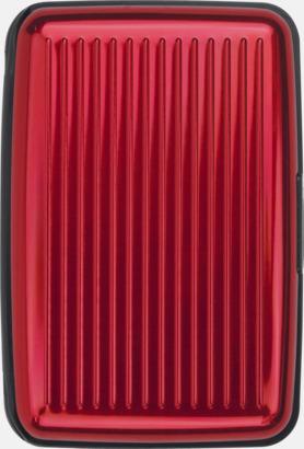 Röd Kortfodral med 7 interna fickor med reklamtryck