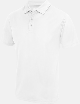 Arctic White Färgglada pikétröjor med reklamtryck