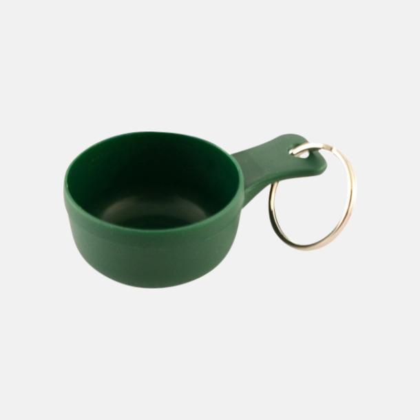 Grön Små kåsor för nyckelringen med tryck