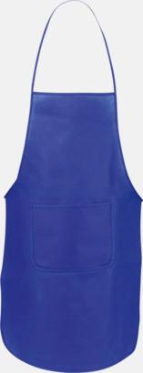 Blå Billiga förkläden i många färger - med reklamtryck