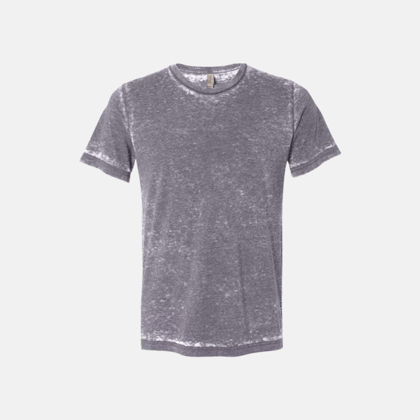 Grey Acid Wash (heather) Unisex t-shirts i spräckliga färger med reklamtryck