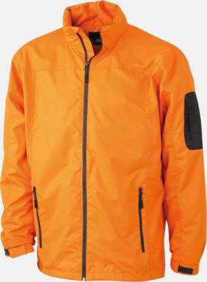 Orange/Carbon Herrjacka med eget tryck