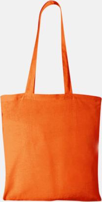 Orange Klassiska tygkassar med reklamtryck