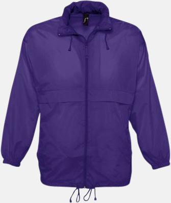 Dark Purple (endast vuxen) Vinjackor för vuxna och barn - med tryck