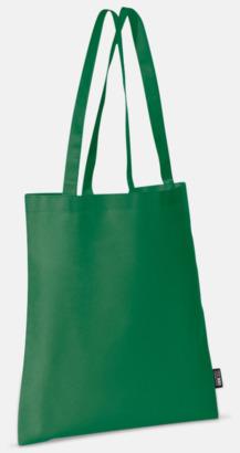 Grön (långa handtag) Billiga kassar med korta eller långa handtag - med reklamtryck