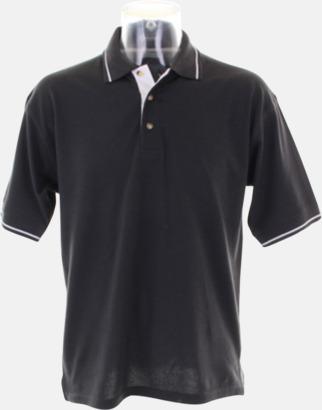 Graphite (solid)/Vit (herr) Tvåfärgade pikétröjor i herr- och dammodell med reklamtryck