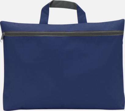 Blå Dokumentväska med tryck