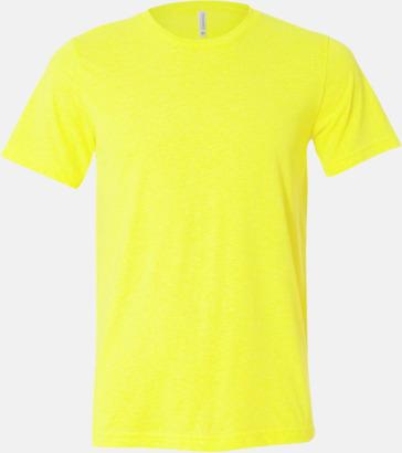 Neon Yellow Unisex t-shirts i spräckliga färger med reklamtryck