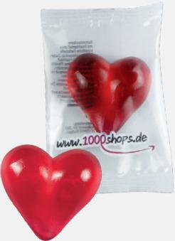 Hjärta Fruktgelé i flow-pack med reklamtryck