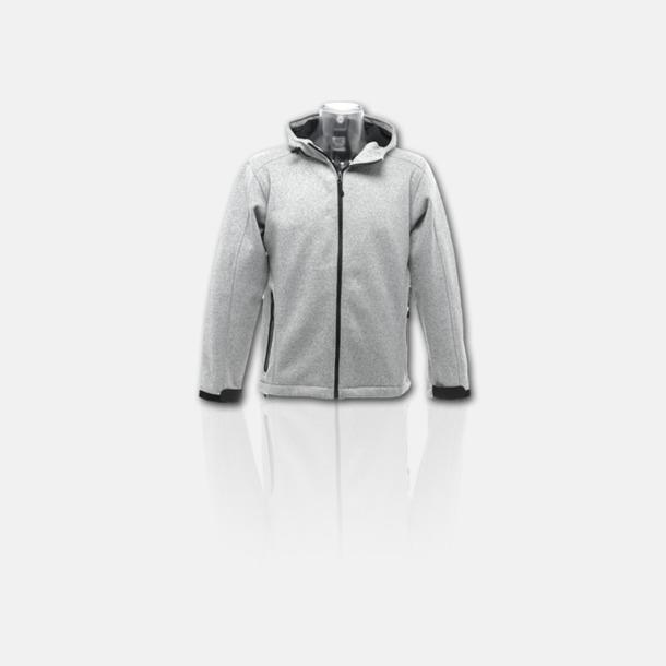 Light Marl Grey/Svart Soft shell-jackor i herr- & dammodell med reklamtryck