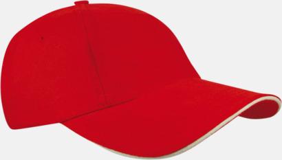 Röd / Natur Sportiga kepsar med brodyr eller tryck