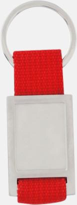 Silver / Röd Nyckelringar som kan domningtryckas