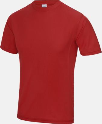 Fire Red Funktionströjor i unisexmodell med reklamtryck