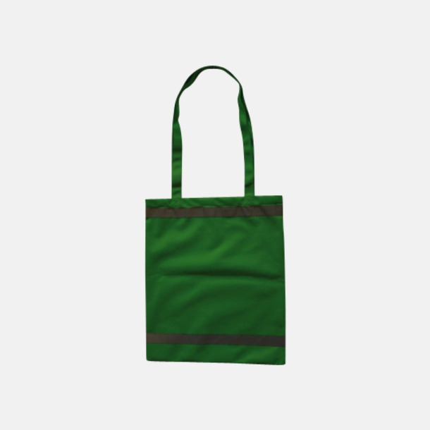 Grön Warnsac® shoppingbag med reklamtryck