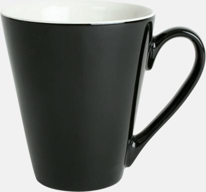 Svart Klassiskt kaffekopp i mångar fina färger
