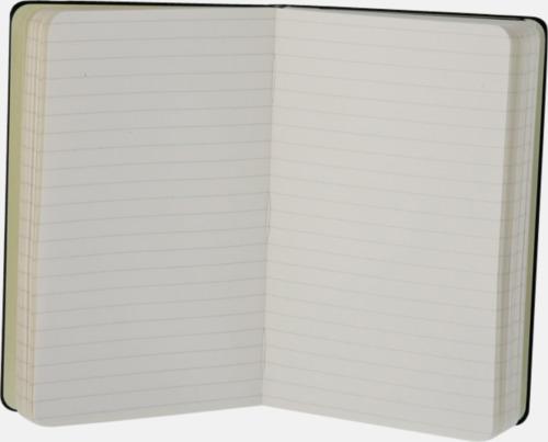 Moleskines mindre (ca A6) anteckningsböcker med linjerade eller rutade sidor - med reklamtryck