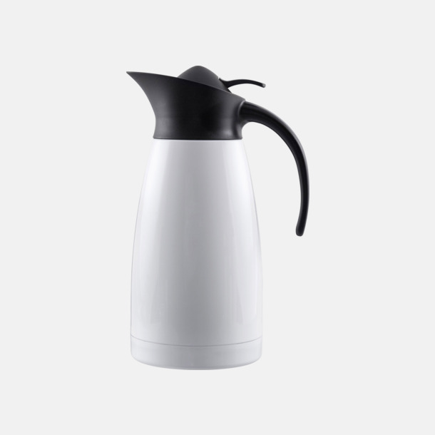 Vit blank Buffés termoskanna i klassisk design med reklamtryck