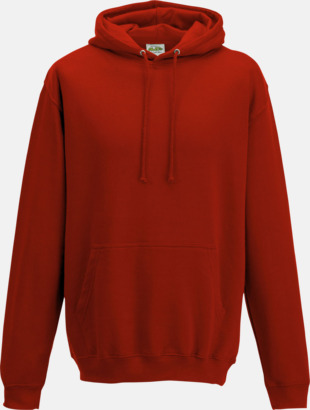 Fire Red Billiga collegetröjor i unisexmodell - med tryck