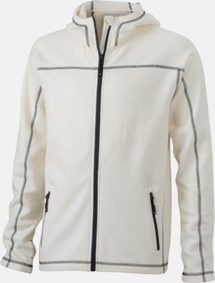 Off-White/Carbon (herr) Figursydda herr- & damjackor i fleece med reklamlogo
