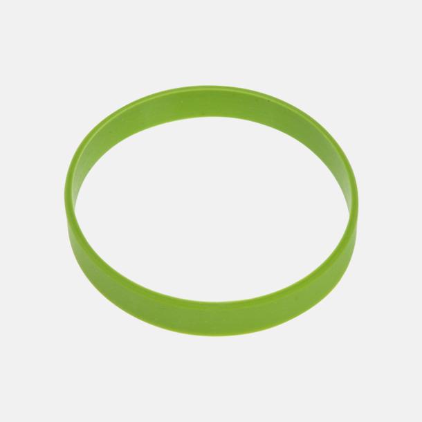 Grön Svart termos med färgat silikonband - med reklamtryck