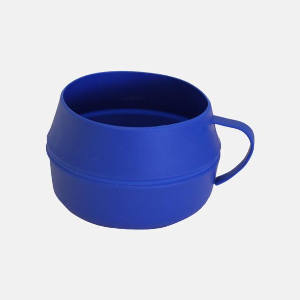 Blå Vikbar kåsa med eget reklamtryck
