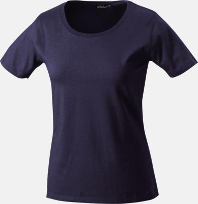 Mörkgrå (solid) T-shirtar av kvalitetsbomull med eget tryck