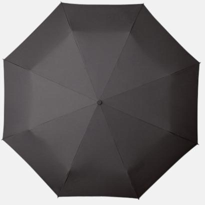 Grå Kompakt Paraplyer - Med tryck