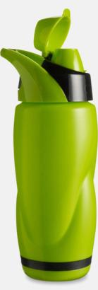 Vatten och sportflaska med tryck
