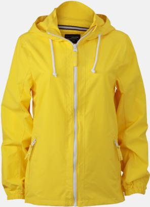Sun Yellow/Vit (dam) Seglarjackor i herr- & dammodell med reklamtryck