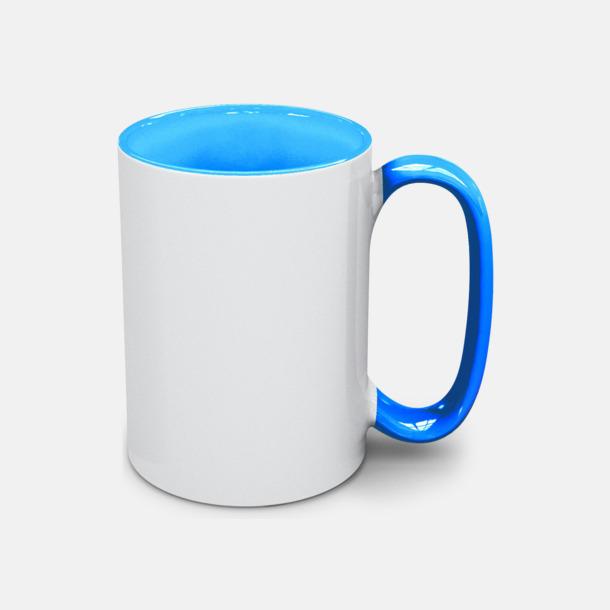 Ljusblå Stengodsmuggar med valbar färg på insidan