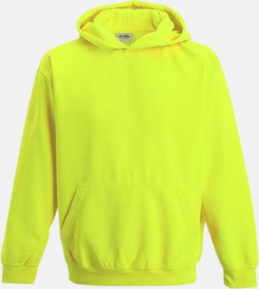 Electric Yellow Huvtröjor för barn i neonfärger med reklamtryck
