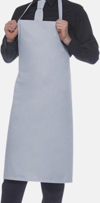 Ljusgrå (428C) Förkläden med eget tryck