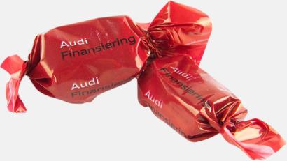 Chokladöverdragen smörkola Smörkolor med chokladöverdrag - med reklamtryck