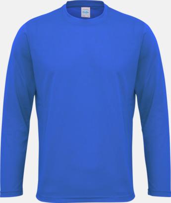 Royal Blue (endast unisex) Unisex tränings t-shirts med långa ärmar - med reklamtryck