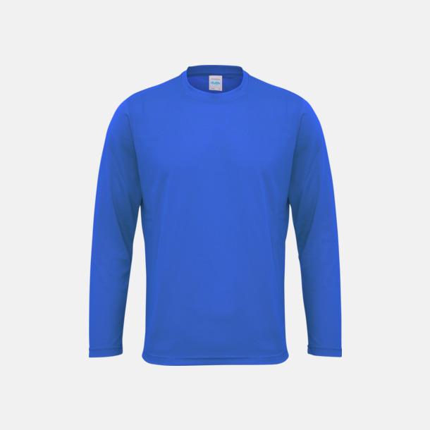 Royal Blue (unisex) Unisex tränings t-shirts med långa ärmar - med reklamtryck