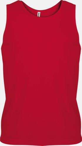 Röd Herrlinnen av funktionsmaterial med reklamtryck