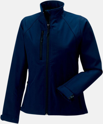 French Navy Softshell-jackor i dammodell med reklamtryck