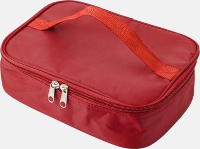 Röd Kylfodral med matlåda & bestick - med reklamtryck