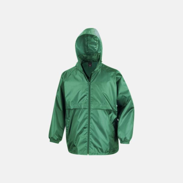 Emerald Green Vindtäta jackor med reklamtryck