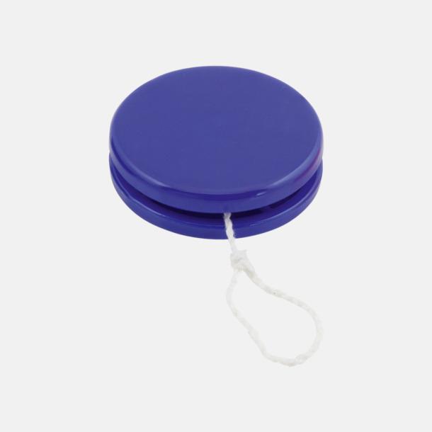 Blå Färgglada jojor i plast med reklamtryck