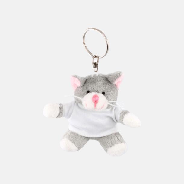 Katt Nyckelringsmaskotar med reklamtryck