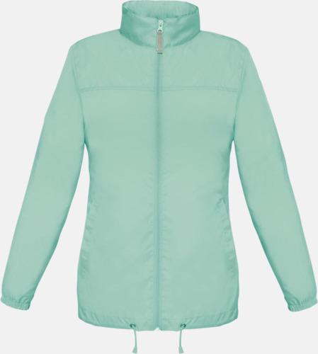 Pixel Turquoise (dam) Vind- och vattentäta jackor för dam, herr och barn - med tryck