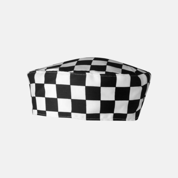 Black-White Check Kockmössor i många färger med reklamtryck