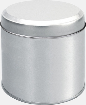 Silver Tomma plåtburkar med reklamtryck