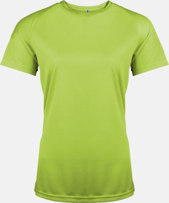 Limegrön Sport t-shirts i många färger för damer - med reklamtryck