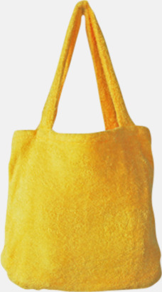 """Brilliant Yellow Bomullsväskor av """"handduksfrotté"""" med bordyr"""