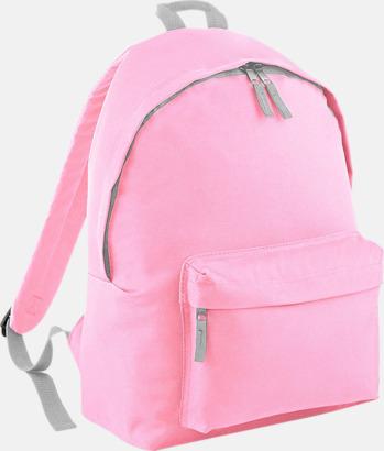 Classic Pink/Ljusgrå Klassisk ryggsäck i 2 storlekar med eget tryck