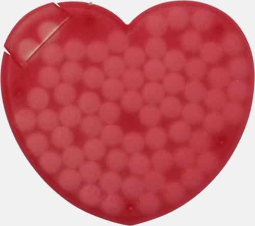 Röd (hjärta) Fresh cards i olika former fyllda med mintgodis - med reklamtryck